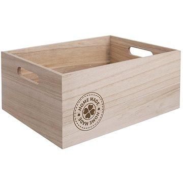 Bedýnka dřevo HOME MADE 31x21x13 cm  - Úložný box