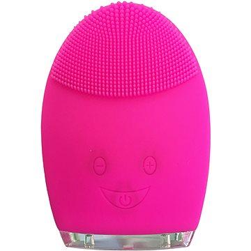 Palsar7 Kulatý elektrický masážní kartáček na čištění pleti, tmavě růžový - Kosmetický přístroj