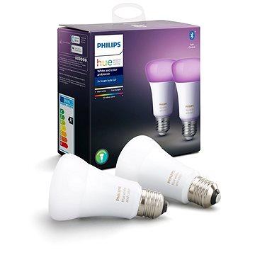 Philips Hue White and Color ambiance 9W E27 set 2ks - LED žárovka