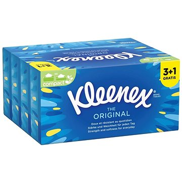 KLEENEX Original Box (80 ks) 3+1 Gratis - Papírové kapesníky