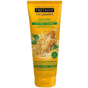 FREEMAN Feeling Beautiful Clay Mask + Cleanser 2v1 Manuka Honey, Tea Tree Oil 175 ml - Pleťová maska