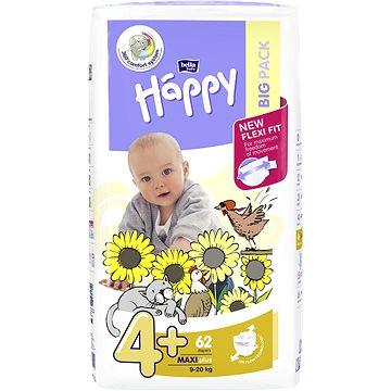 BELLA Baby Happy Maxi Plus vel. 4+ (62 ks) - Dětské pleny