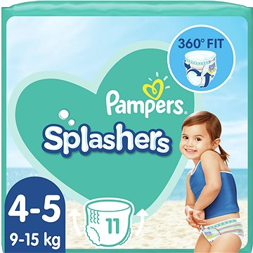 PAMPERS Splashers vel. 4 (8–14 kg) 11 ks - Plenkové plavky