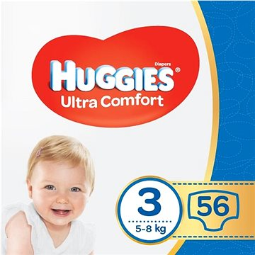 HUGGIES Ultra Comfort Jumbo vel. 3 (56 ks) - Dětské pleny