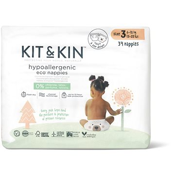 Kit & Kin Eko Naturally Dry Nappies vel. 3 (34 ks) - Eko pleny