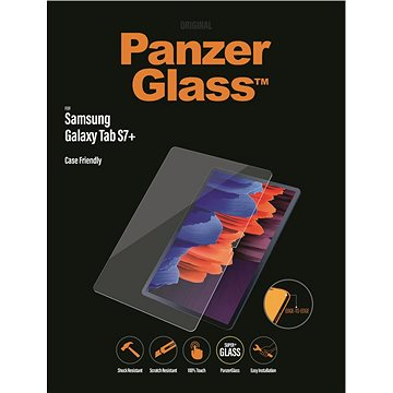 "PanzerGlass Edge-to-Edge pro Samsung Galaxy Tab S7+ 12.4"" čiré - Ochranné sklo"