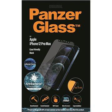 PanzerGlass Edge-to-Edge Antibacterial pro Apple iPhone 12 Pro Max černé s Anti-BlueLight vrstvou - Ochranné sklo