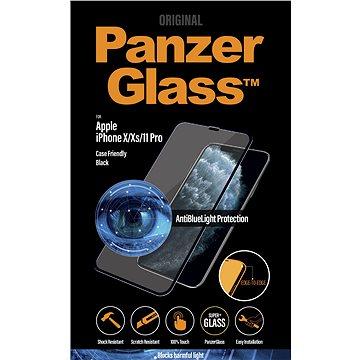 PanzerGlass Edge-to-Edge pro Apple iPhone X/Xs/11 Pro černé s Anti-blue light - Ochranné sklo