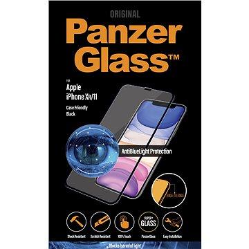 PanzerGlass Edge-to-Edge pro Apple iPhone Xr/11 černé s Anti-blue light - Ochranné sklo