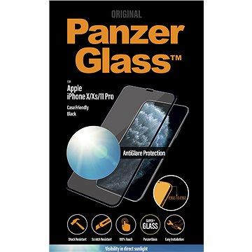 PanzerGlass Edge-to-Edge pro Apple iPhone X/Xs/11 Pro černé s Anti-Glare - Ochranné sklo