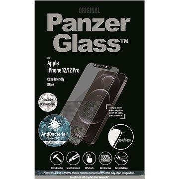 PanzerGlass Edge-to-Edge Antibacterial pro Apple iPhone 12/12 Pro s čirým Swarovski CamSlider - Ochranné sklo