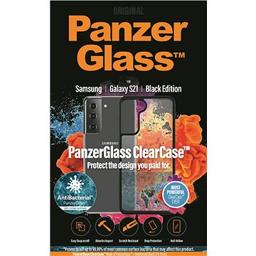 PanzerGlass ClearCase Antibacterial pro Samsung Galaxy S21 Black edition - Pouzdro na mobil