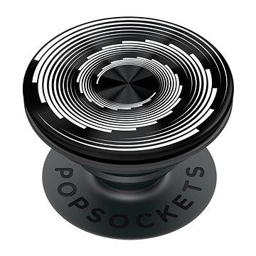 PopSockets PopGrip Gen.2, Backspin Endless Waves, otáčecí, černý/bílý - Držák na mobilní telefon