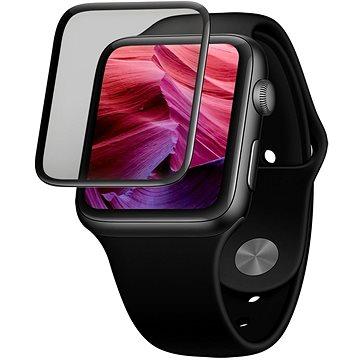 FIXED 3D Full-Cover s aplikátorem pro Apple Watch 42mm černé - Ochranné sklo