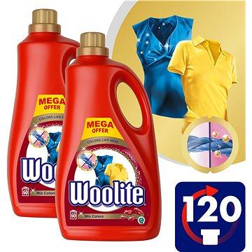 WOOLITE Mix Colors 2× 3,6 l (120 praní) - Prací gel