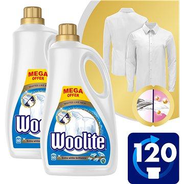 WOOLITE Extra White Brillance 2× 3,6 l (120 praní) - Prací gel