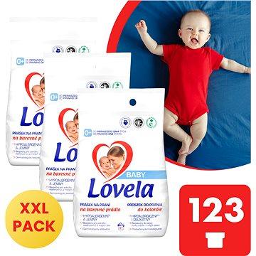 LOVELA Baby na barevné prádlo 3× 4,1 kg (123 praní) - Prací prášek