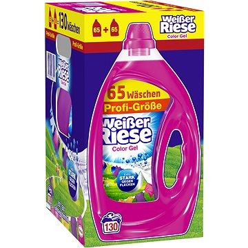 WEISSER RIESE Color Gel 6,5 l (130 praní) - Prací gel