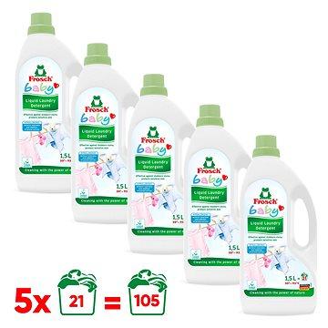 FROSCH Baby na kojenecké prádlo 5× 1,5 l (105 praní) - Eko prací gel