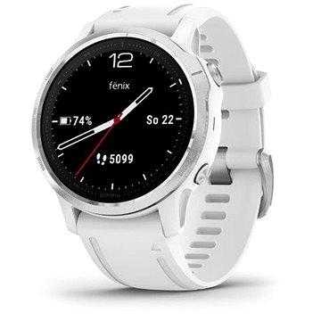 Garmin Fenix 6S Glass Silver/White Band - Chytré hodinky
