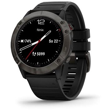 Garmin Fenix 6X Pro Sapphire Carbon Gray DLC/Black Band - Chytré hodinky