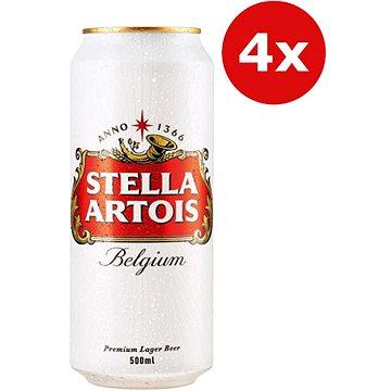 Stella Artois 4x0,5l plech - Pivo