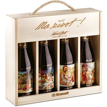 Bernard Dárkový box Limited Art Edition Karel Gott 16° 4x0,75l - Pivo