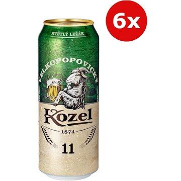 Kozel světlý ležák 11° 6×0,5l 4,6% plech - Pivo