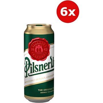 Pilsner Urquell 12° 6×0,5l 4,4% plech - Pivo