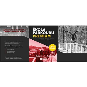 Kompletní on-line kurz parkouru s podporou profesionála - PREMIUM - Voucher: