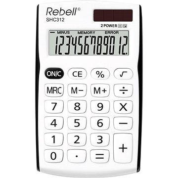 REBELL SHC 312 bílo/černá - Kalkulačka