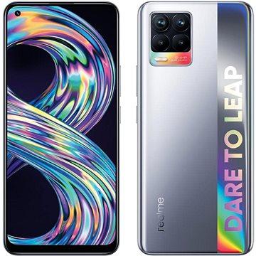 Realme 8 DualSIM 6GB/128GB stříbrná - Mobilní telefon