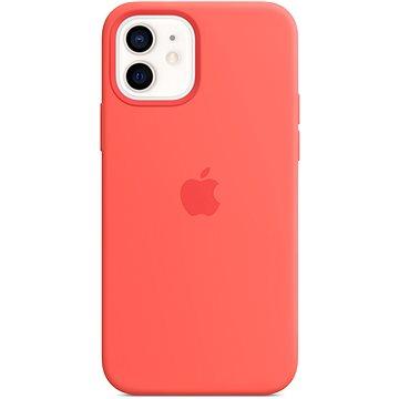 Apple iPhone 12 Mini Silikonový kryt s MagSafe citrusově růžový - Kryt na mobil