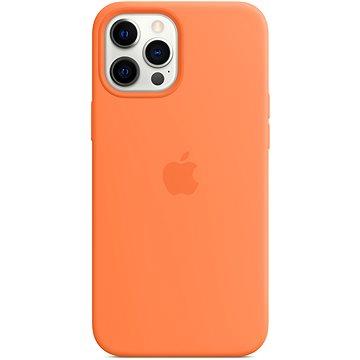 Apple iPhone 12 Pro Max Silikonový kryt s MagSafe kumkvatově oranžový - Kryt na mobil