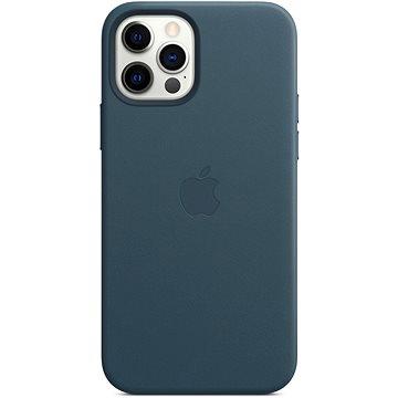 Apple iPhone 12 a 12 Pro Kožený kryt s MagSafe baltsky modrý - Kryt na mobil
