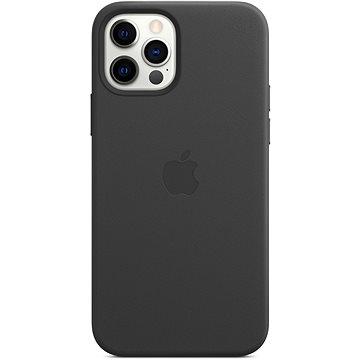 Apple iPhone 12 a 12 Pro Kožený kryt s MagSafe černý - Kryt na mobil