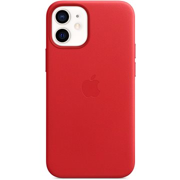 Apple iPhone 12 Mini Kožený kryt s MagSafe (PRODUCT)RED - Kryt na mobil