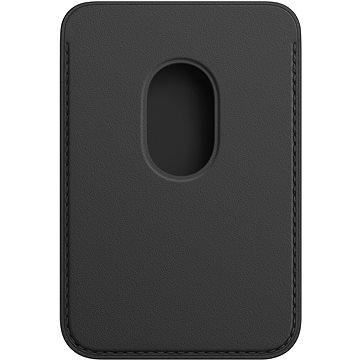 Apple Kožená peněženka s MagSafe k iPhonu černá - MagSafe peněženka