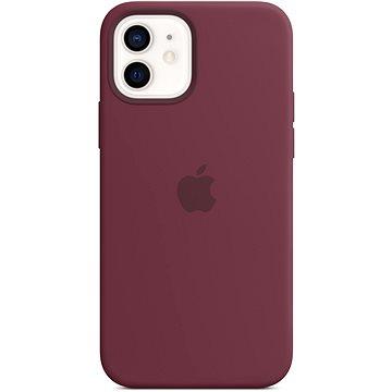 Apple iPhone 12 a 12 Pro Silikonový kryt s MagSafe švestkový - Kryt na mobil