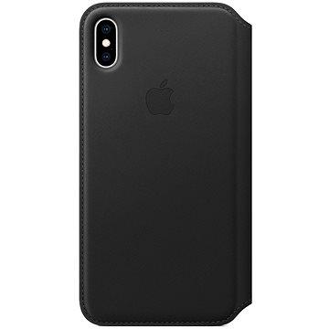 Apple iPhone XS Kožené pouzdro Folio černé - Pouzdro na mobil
