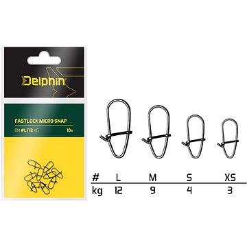 Delphin Fastlock Micro Snap Velikost L 12kg 10ks - Karabinka