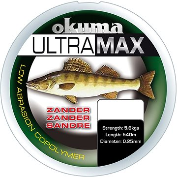 Okuma Ultramax Zander 0,28mm 13lbs 6,9kg 785m Grey - Vlasec