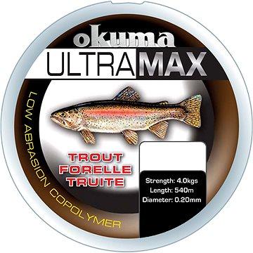 Okuma Ultramax Trout 0,22mm 9lbs 4,9kg 1155m Grey - Vlasec