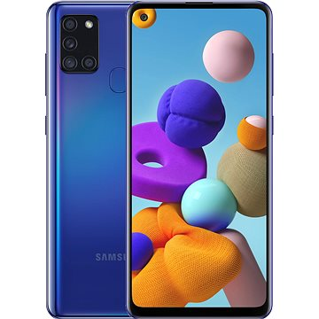 Samsung Galaxy A21s 128GB modrá - Mobilní telefon
