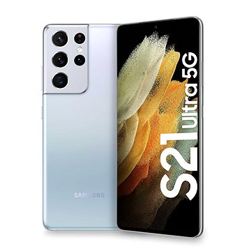 Samsung Galaxy S21 Ultra 5G 256GB stříbrná - Mobilní telefon