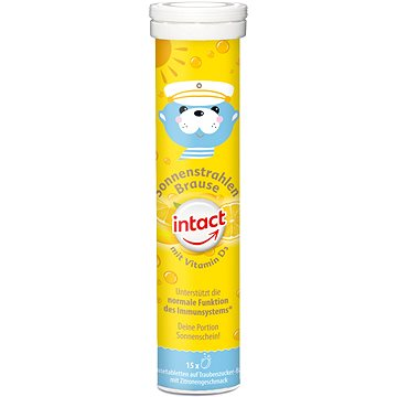 Intact Sluneční svit, vit. D3, šum. tbl, Citron 15 ks - Vitamín D