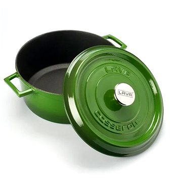 LAVA METAL Litinový hrnec kulatý 16cm - zelený - Hrnec