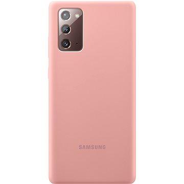 Samsung Silikonový zadní kryt pro Galaxy Note20 hnědo/růžový - Kryt na mobil