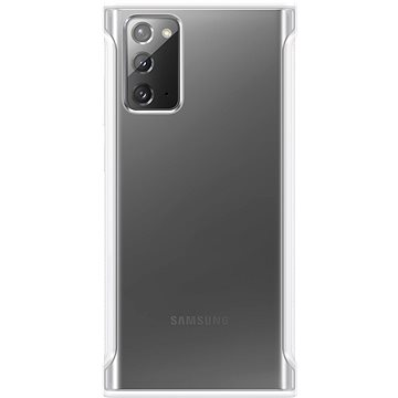 Samsung Průhledný ochranný kryt pro Galaxy Note20 bílý - Kryt na mobil
