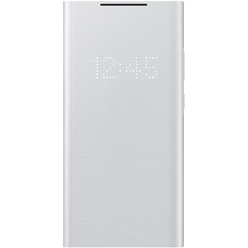 Samsung Flipové pouzdro LED View pro Galaxy Note20 Ultra 5G stříbrné - Pouzdro na mobil